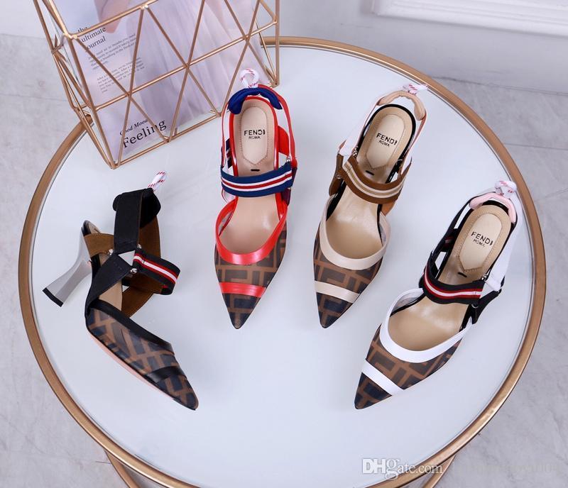 Kutu ile Womens Ayakkabı Düz Topuk Roma Sandalet Sıcak Satış Delikli Çevirme Nefes Yaz Artı Boyutu Kadın Ayakkabı Siyah Gri Pembe