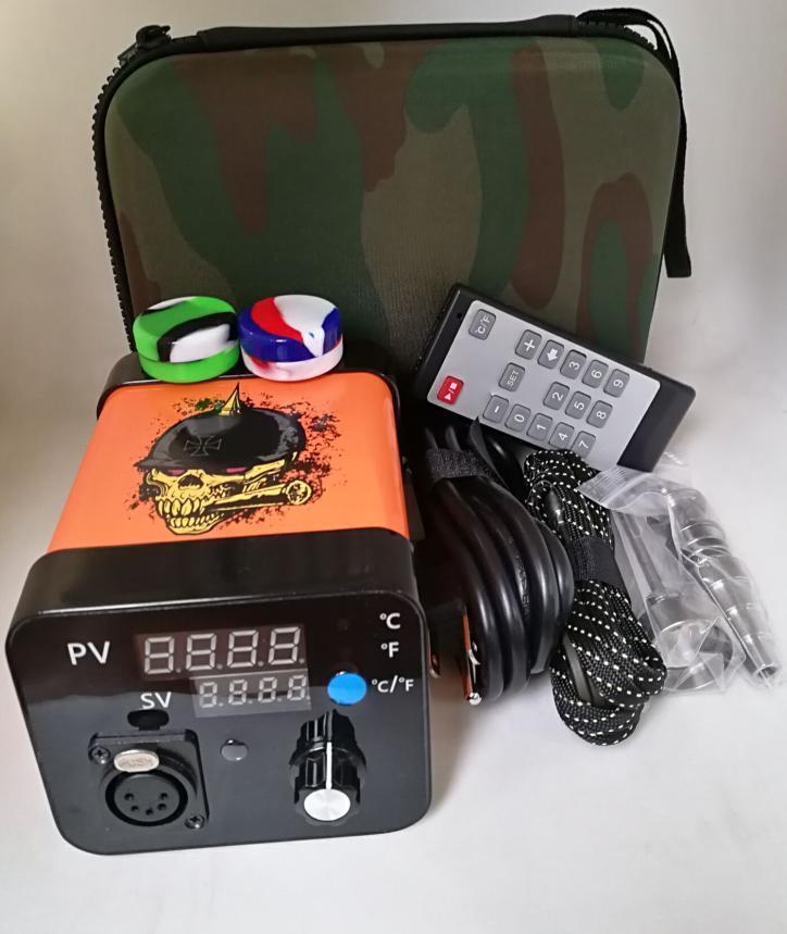 Menovo elettrico titanio Dab Nails Penna Oil Rig Cera tamponando PID TC Box Con Domeless Coil Heater Dnail Kit silicone Pad Vs Mighty