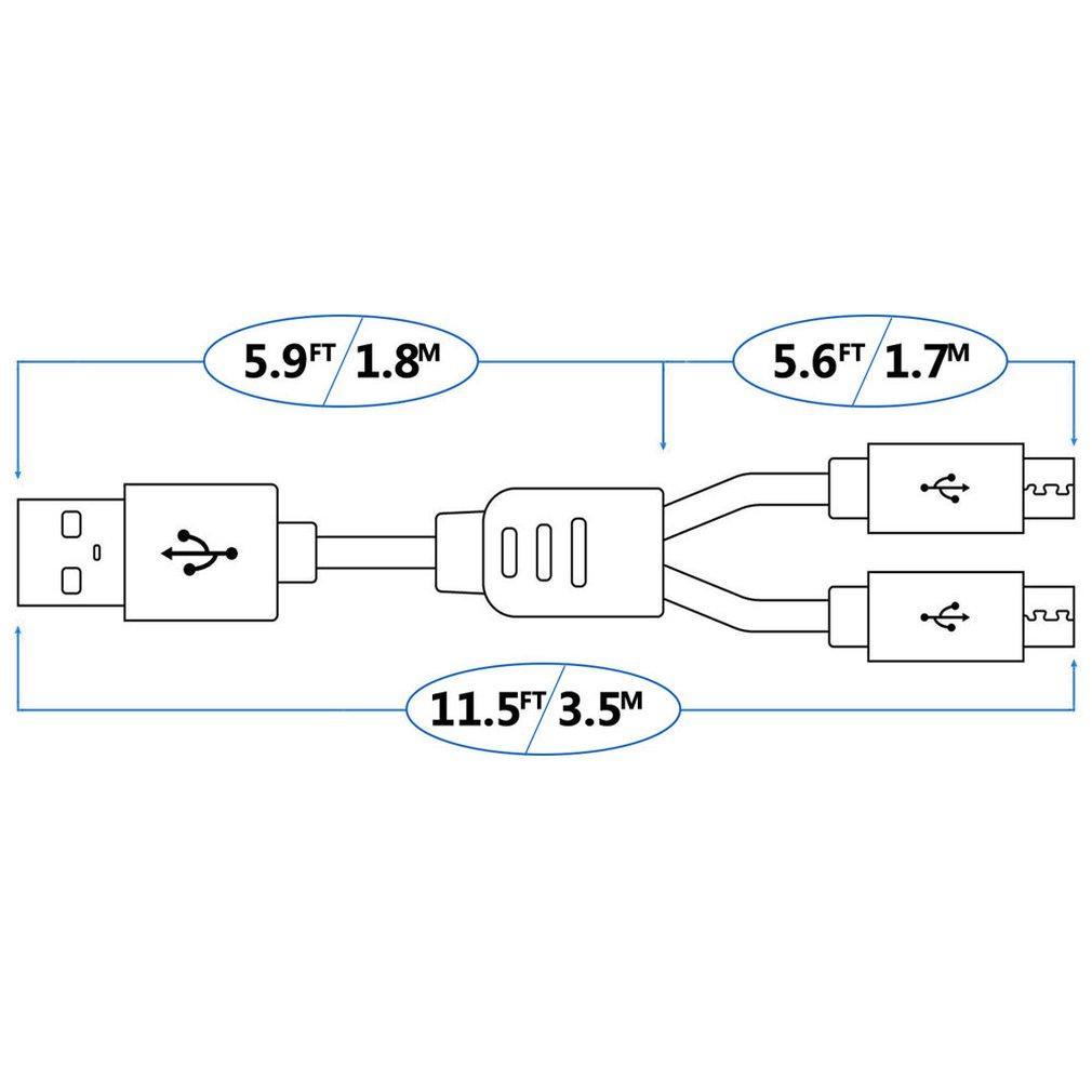 VR Ladeadapter 2-In-1 Micro + MINI USB-Ladekabel Adapter für PS4 für Dualshock 4 Wireless Controller