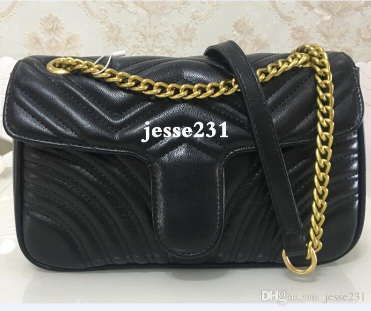 أعلى جودة 11 الألوان المرأة حقيبة الكتف الذهب والفضة حقيبة سلسلة CROSSBODY النقي يد لون CROSSBODY رسول حمل حقيبة محفظة