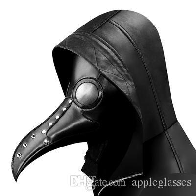 Retro steampunk máscara de moda pu pássaro Dia das Bruxas da máscara protetora máscara cosplay partido de feriado prop propfashion