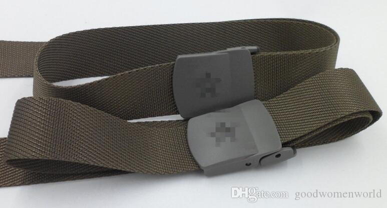 nueva multa trenzado entrenamiento militar estudiante cinturón interior de secado rápido de los hombres de la correa de la correa táctica 2piece / lot