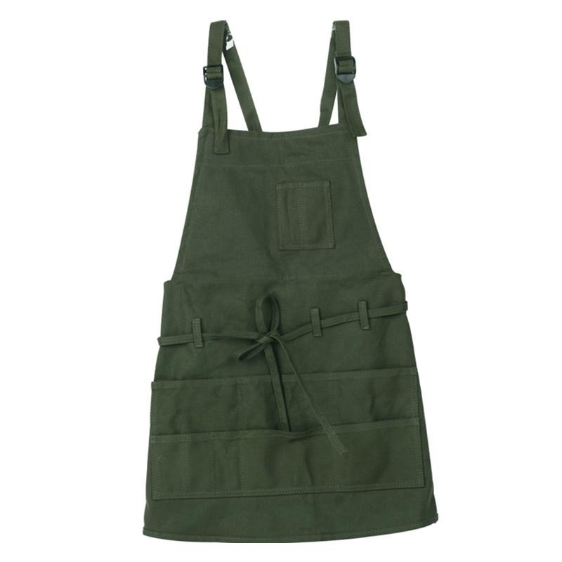 Estilo avental do artista multi-Pocket Slim Fit Avental Correia de pescoço ajustável e cintura laços Indicado para pintura do artista