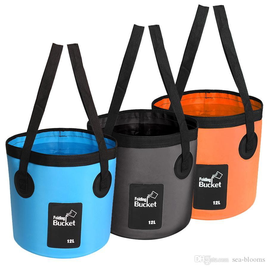 6 Colors Fishing Bucket 20L Waterproof Storage Portable Folding Outdoor Bucket For Camping Fishing Hiking Durable Container Free DHL M238Y
