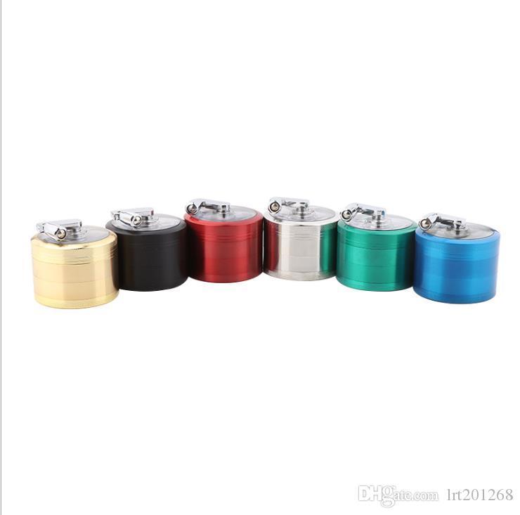 Liga de zinco 63MM manual de quatro camadas de moedor de fumo