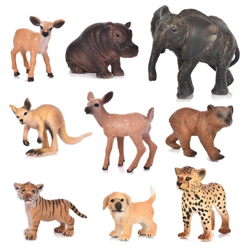 igurines Miniatures 20 Stil Zoo Simulation Tiger Elefant Deer Leopard Kunststoff Wald Wilde Tiere Modellierung Spielzeug Figurine Home Decor G ...