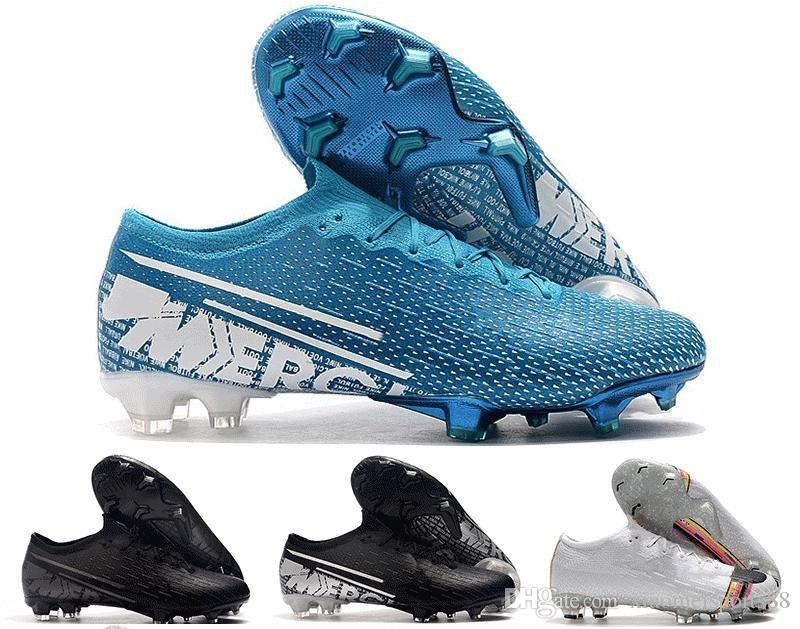 2019 Nouvelle couleur faible Mercurial Superfly VI SE Elite FG CR7 Hommes Chaussures de soccer LVL UP CR7 Football Crampons Outdoor Hommes Chaussures de football