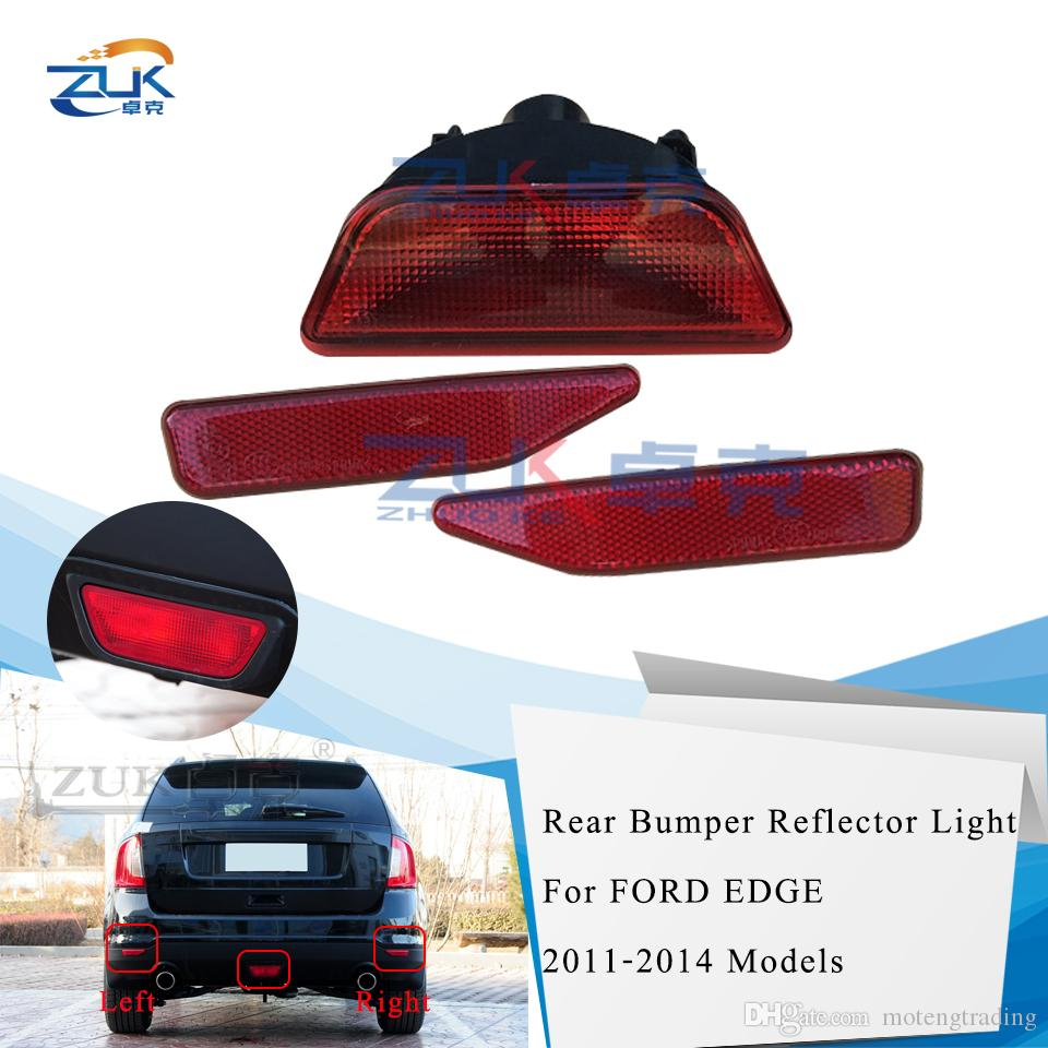 Substituição 3PCS / SET ZUK nova marca de alta qualidade Rear Left Right Bumper refletor Nevoeiro Oriente lâmpada para Ford Edge 2011-2014