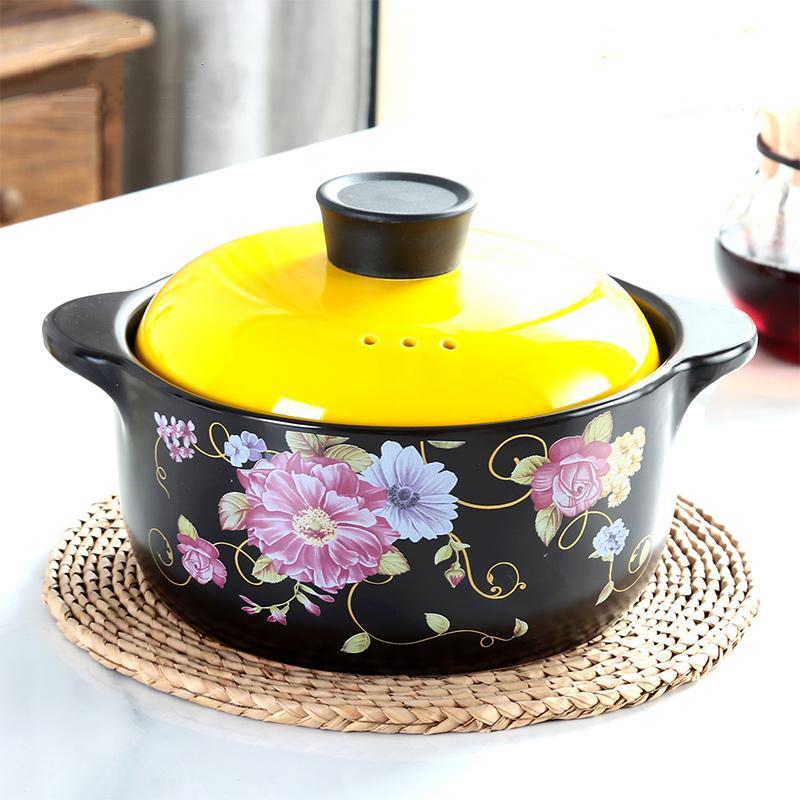 Keramik Casserole Suppentopf koreanische Hochtemperaturbeständige Erhaltung der Gesundheit Open Fire Casserole Pot
