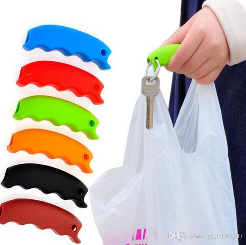 Bolsas convenientes Bolsas para colgar Bolsas para transportar Ahorre esfuerzo Herramientas Gadgets de cocina Silicona Colores dulces