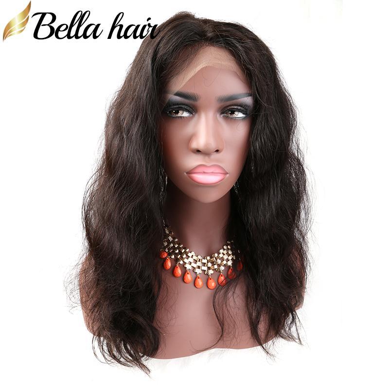 Pelo brasileño 360 Lace Frontales onda del cuerpo de encaje completa 22x4x2 Pre desplumados extensiones 100% del pelo humano de la Virgen del color natural del pelo de Bella