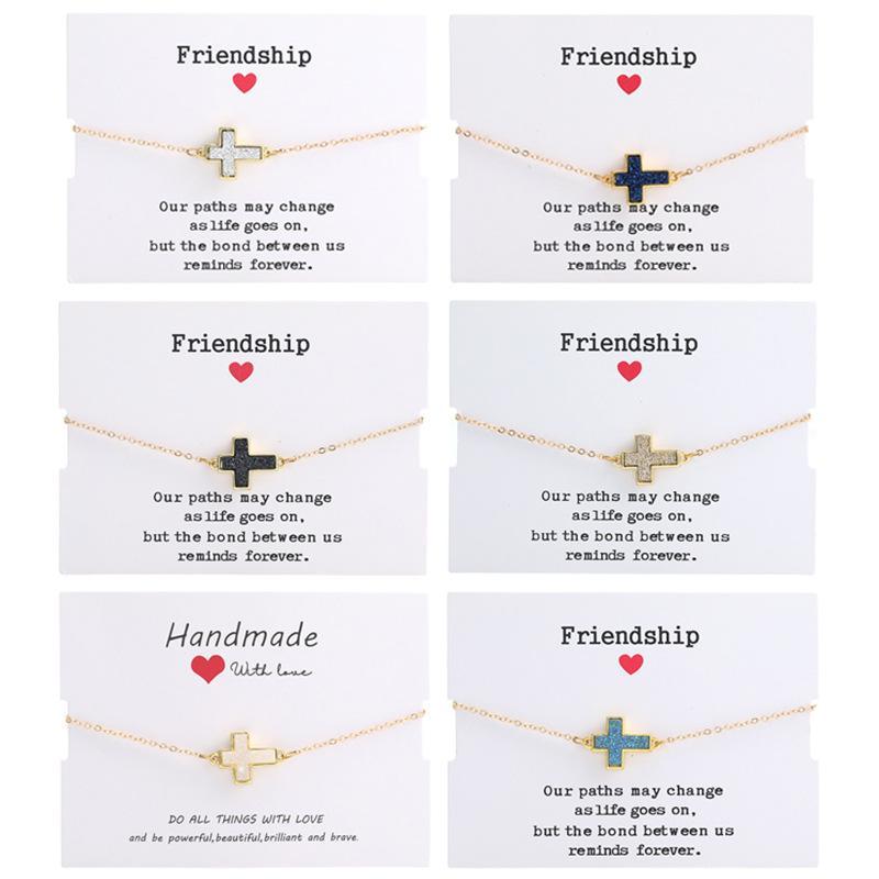 Jesus Christian Womens Cross Charms Bracelets Religious Trendy Chain Friendship Bracelet Lucky Designer Jewelry for Girls 2020 New Fashion