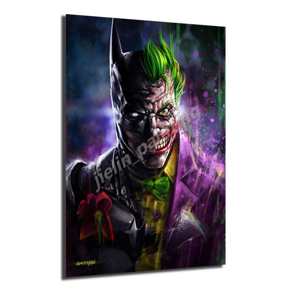 Batman Poster Джокер Картины на холсте современного искусства Кинопостеры декоративные настенные картинки украшения дома