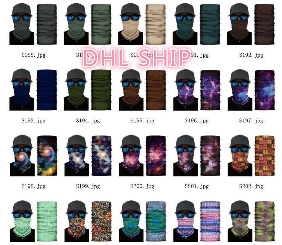 US STOCK 1000 Pesca Pz esterna del collo di sport Skull Scarf biciclette bandane Shield maschera di protezione fascia Bandana Headwear Anello passamontagna bicicletta