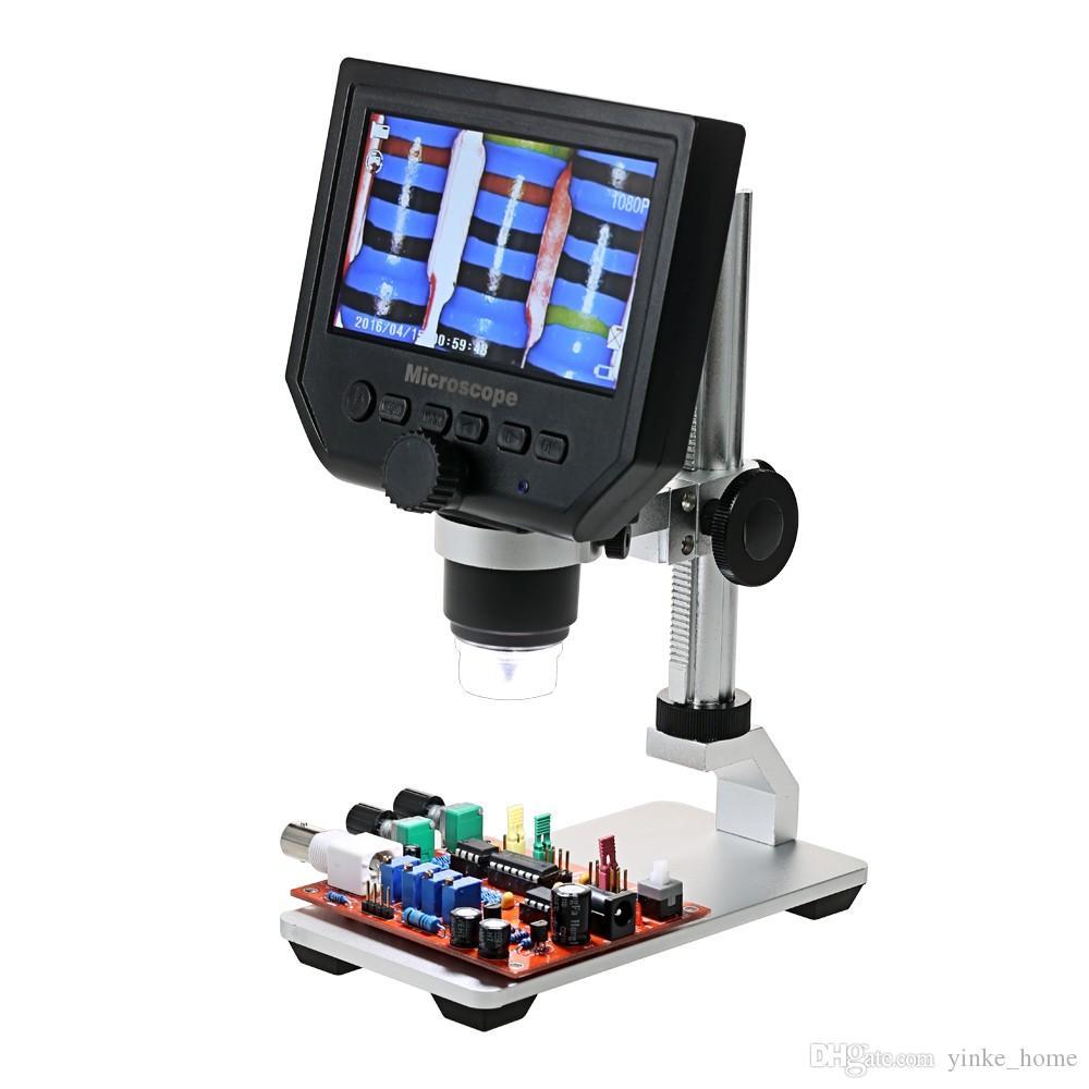 Negro -BCVBFGCXVB Tama/ño port/átil LED Microscopio Digital USB Endoscopio C/ámara Microscopio Lupa Microscopio electr/ónico con Soporte
