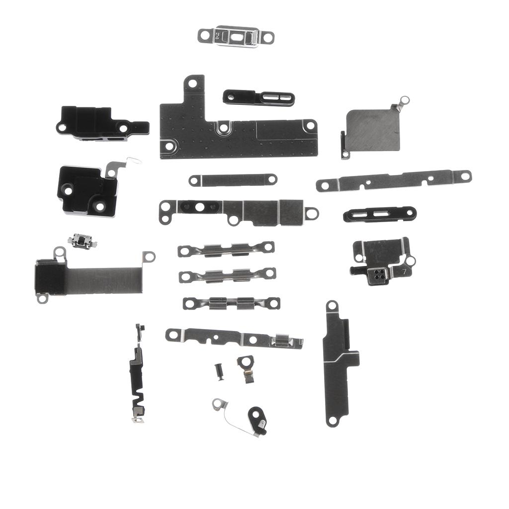 Home Button Metal Backplate Holder Bracket Plate Fix Part 21/22/25 Pieces Set For Apple iPhone 6 6s 7