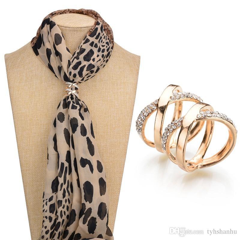 Terreau Кэти корейской моды женщин ювелирные изделия золото ColorBrooch Pin Шали шарфы шарф Пряжка зажимы B194