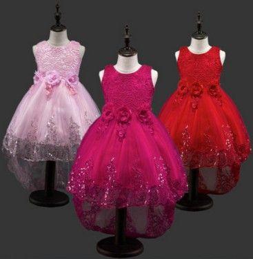 Compre Vestido Del Bebé Del Verano De 2019 3 10 Años Vestido Floral De Los Bebés Vestidos Es Fiesta De La Boda Ropa De Bebé Cumpleaños Ropa A 3015