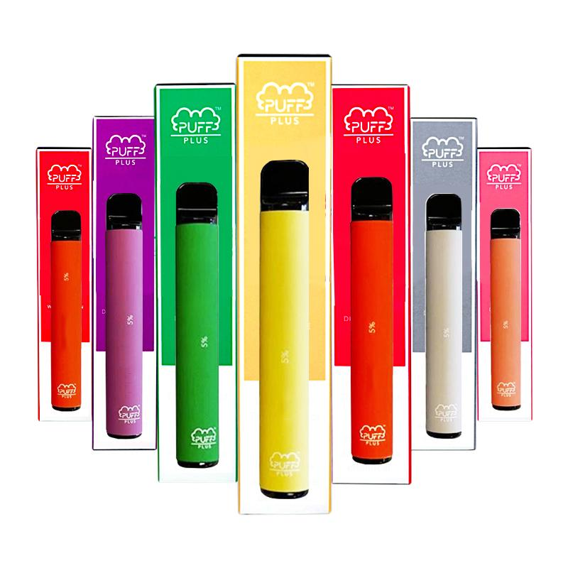 PUFF BAR PLUS 800 + Puff monouso SOFFIO PLUS Cartuccia 550mAh Battery 3.2mL pre-riempite Vape Pods Stick Style sigarette e portatile vaporizzatore