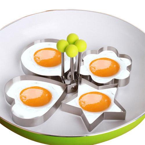 الفولاذ المقاوم للصدأ أدوات البيض المقلي المشكل فطيرة العفن العفريت العفن القلي البيض أداة الطبخ اكسسوارات المطبخ الأداة