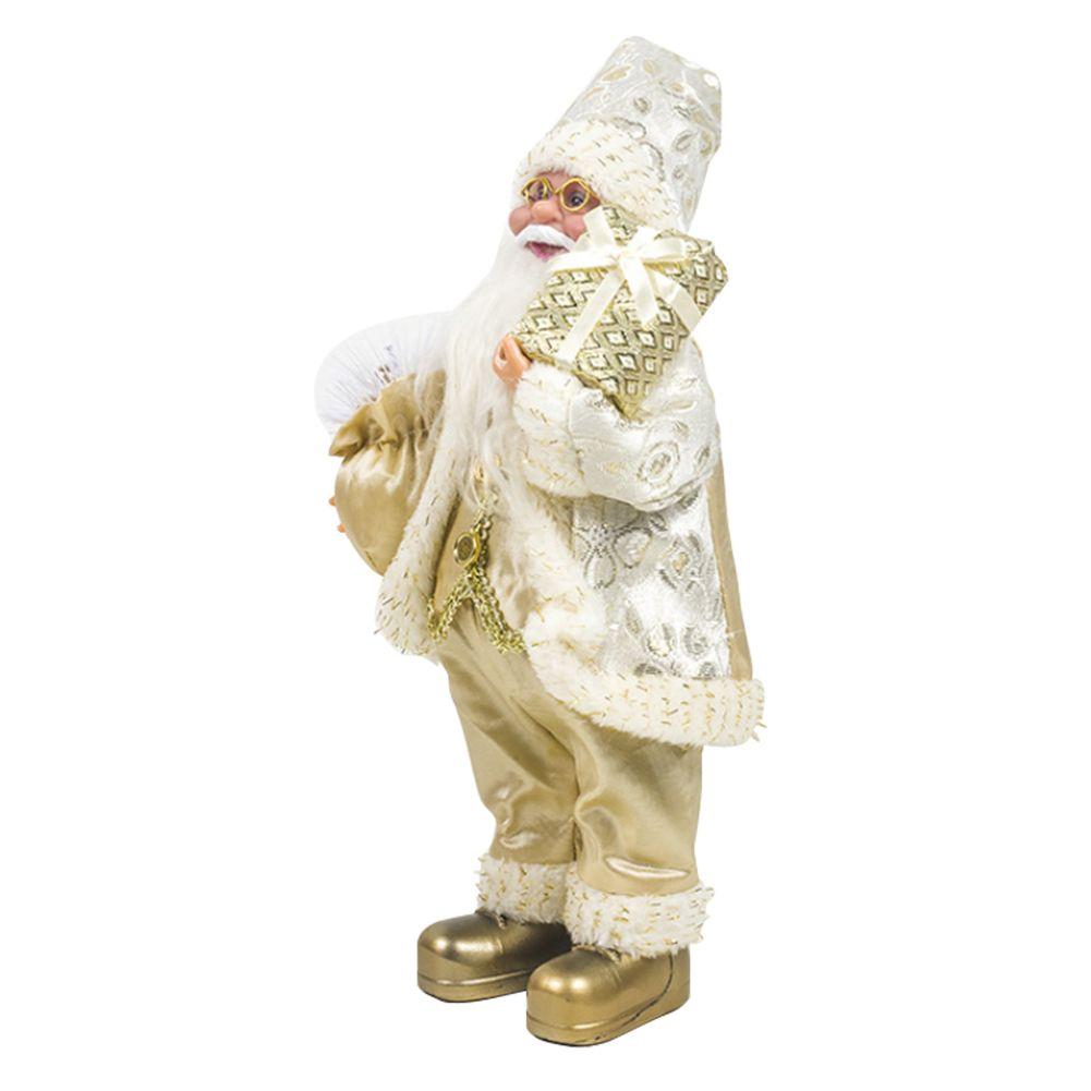 Regalos del partido del festival de vacaciones de dibujos animados de Navidad ornamento decorativo Inicio de tela de peso ligero muñeca de juguete lindo portable de Santa Claus