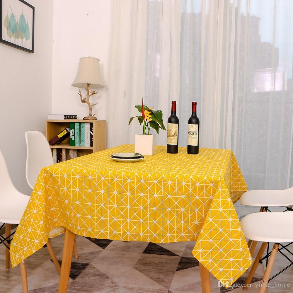 Rectangle Tablecloth Table Cover 140x180cm Cotton Linen Oblong Waterproof  Desk Table Cloth For Dining Kitchen Party Decoration Vinyl Tablecloths ...