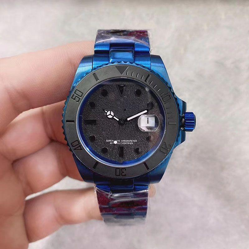 2020 Nuevo estilo U1 Forgatorio Sub Movimiento automático Menores Reloj de banda de acero inoxidable Crystal 316 Sapphire