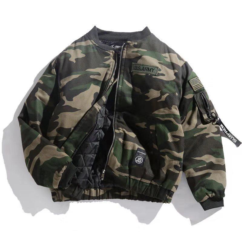 2020 concepteur ruban de camouflage de la marque de marée japonaise épaisse automne manteau de coton et l'hiver veste veste de style militaire épaisse marée caraco