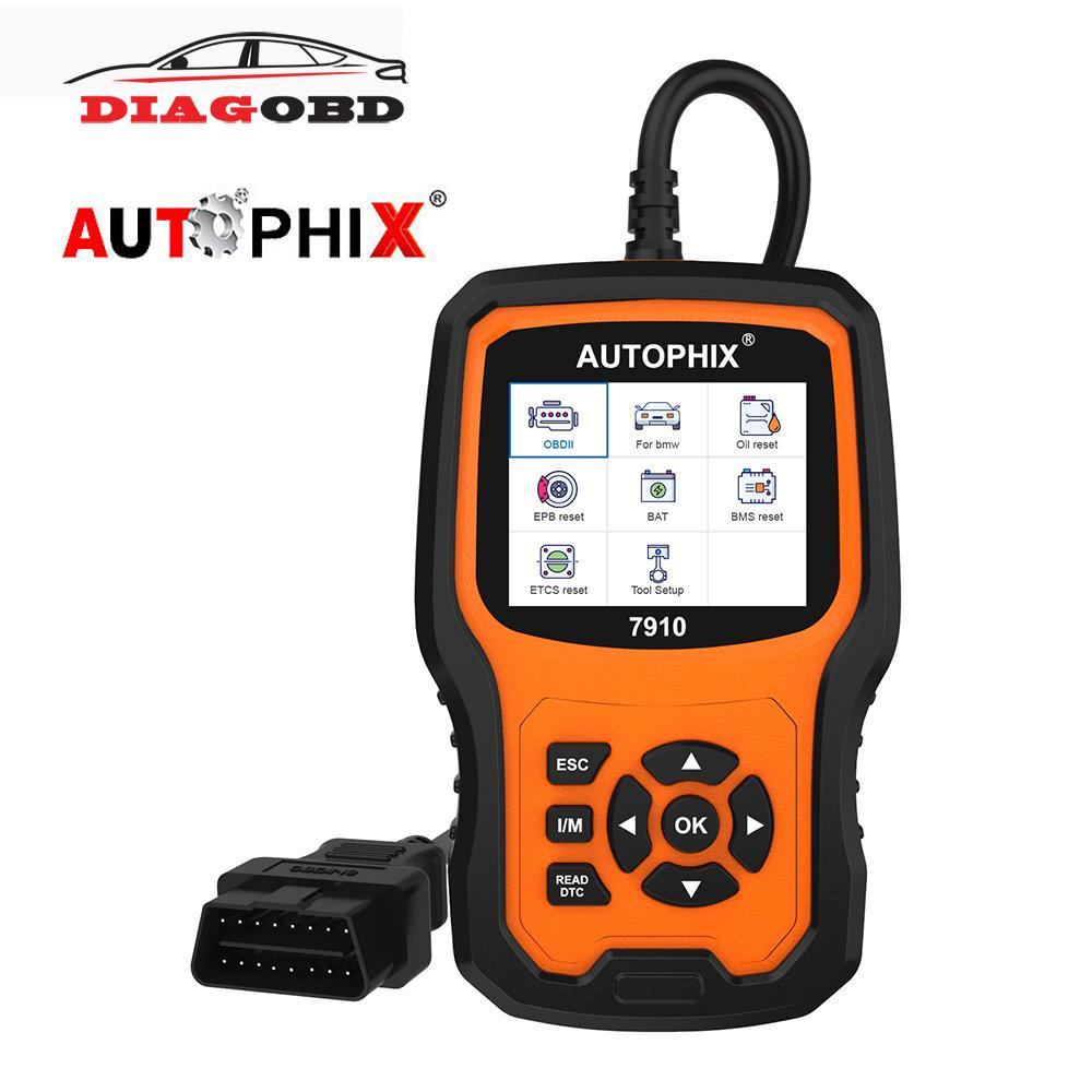 Autophix 7910 أداة تشخيص الفنية OBD2 سيارة للحصول على E39 E60 E87 TPMS SAS DPF النفط إعادة تعيين كاملة نظام OBD 2 ماسح السيارات