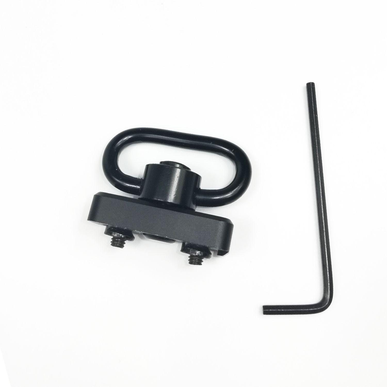 1.25 Inch Push Button QD Sling Swivel mount kit universal keymod Handguard rail attachment