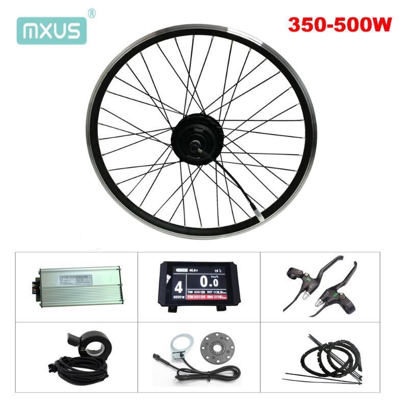 전기 자전거 모터 자전거 36V 250W 350W 48V 500W Ebike 변환 키트 Mxus XF07 XF08 XF15F XF15R 허브 프론트 후륜 MTB