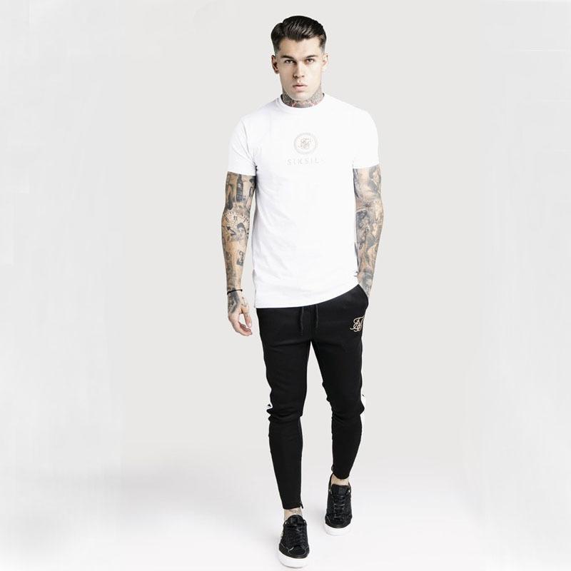 T Moda siksilk stampa manica corta maglietta di estate degli uomini Nuovo Uomo casuale Tee Shirt Homme Hip Hop Streetwear Tshirt Y200611