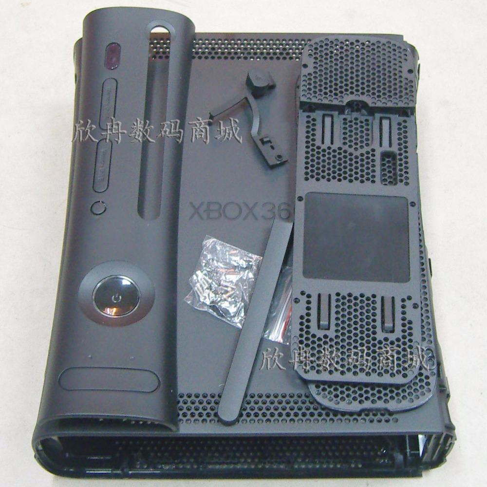 frete grátis Conjunto completo Habitação Shell Case for XBOX360 legal substituição consola caso de concha cor branca