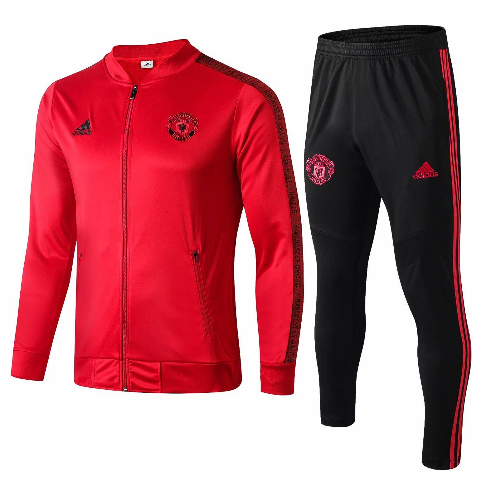 boa qualidade novo 19 20 Man United jaqueta de futebol Pogba 2019 casa 2020 afastado Fatos blusão casacos camisola do hoodie Lukaku futebol