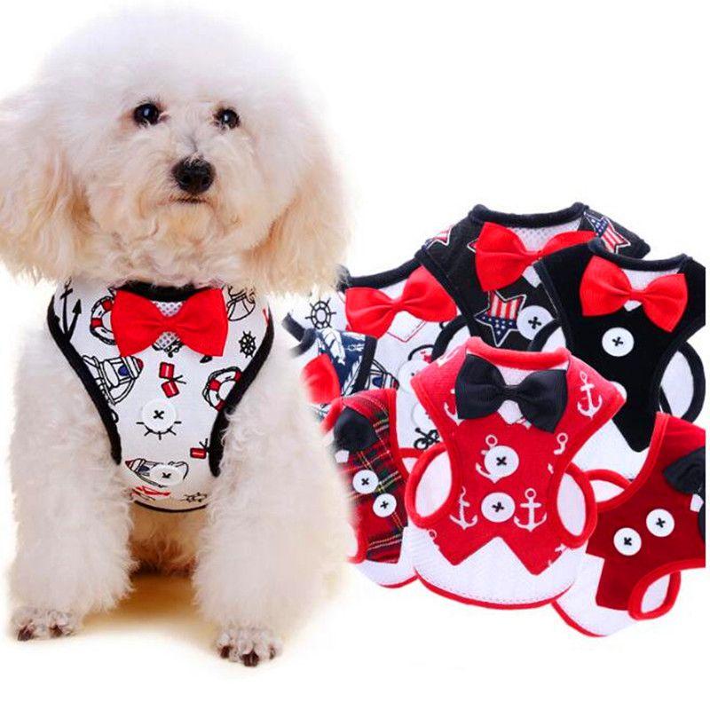 Arnés de chaleco para perros transpirable Juego de arnés y correa para perros de nylon para perros pequeños Gato Mascota Correa para el pecho del perro Correa Vestido estilo chaleco