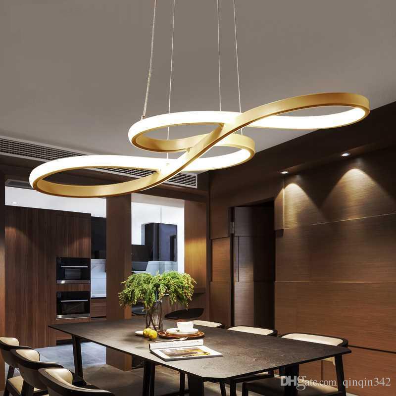 Großhandel Neue Kunst Und Design Geformt Prägnante Moderne Led Lampen  Wohnzimmer Pendelleuchte Bekleidungsgeschäft Bar Kreative Esszimmer Led ...