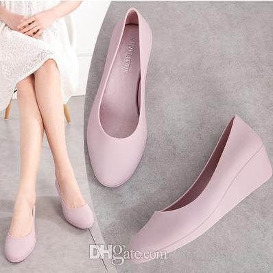 Новые модные сандалии с толстым дном для женщин водонепроницаемые простые резиновые пляжные туфли lady slope jelly shoes woman single garden shoes