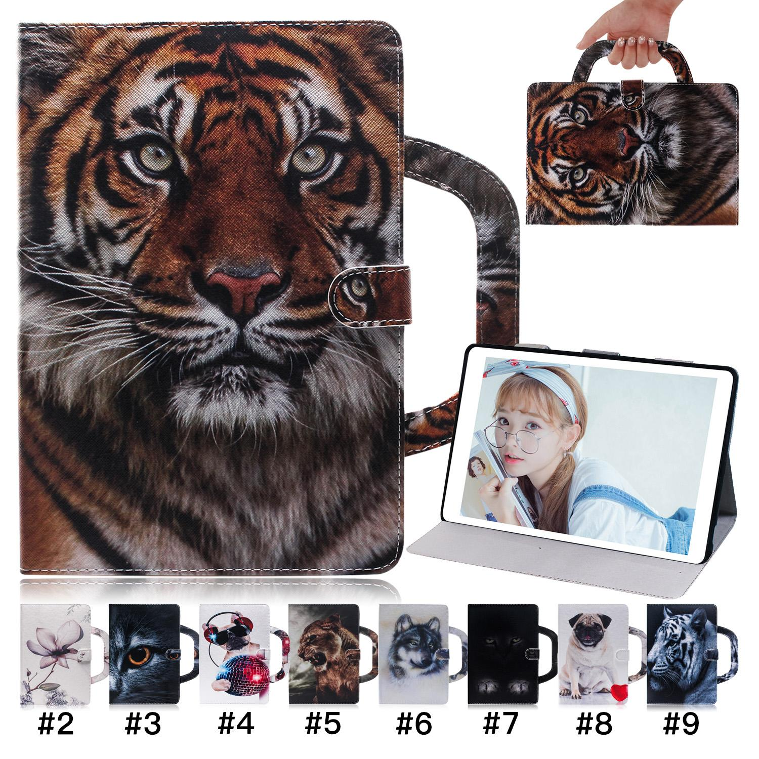 Painted Pattern Tablet Case for iPad Pro 11 iPad Air 3 10.5 iPad Mini 5 Handbag Style Samsung Galaxy Tab A 8.0 T290 Flip Stand Cover Case