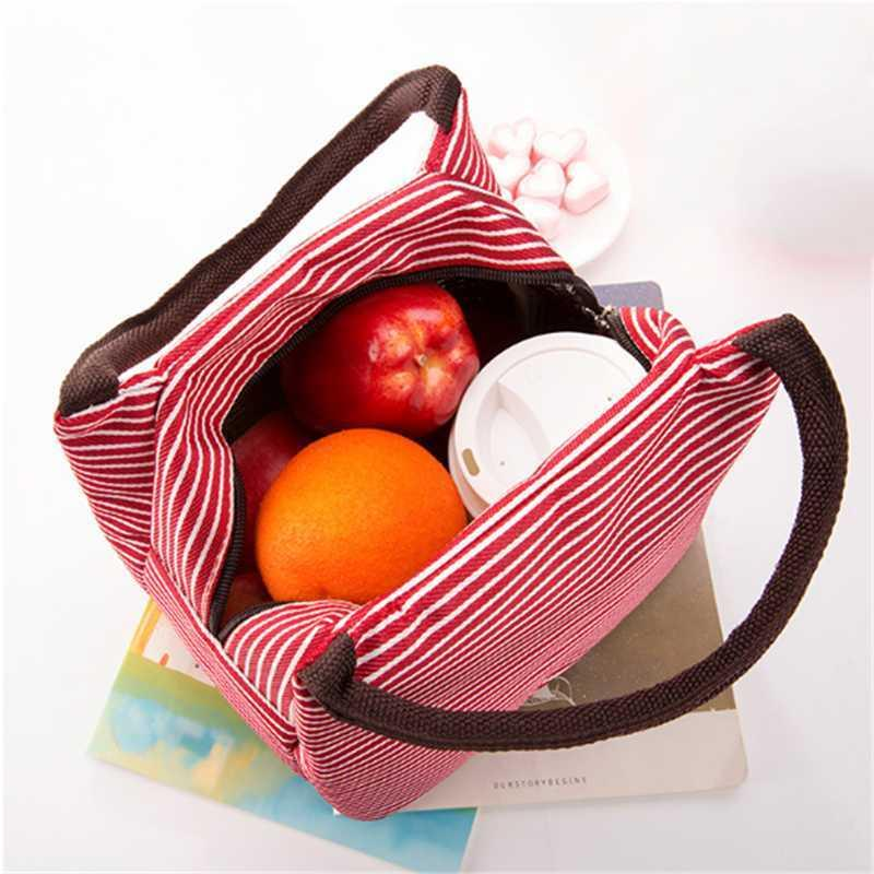 Insulated Lunch Bag Picnic Tote Bag Insulated Lunch Cooler Container Travel Zipper Organizer Box For Women Men