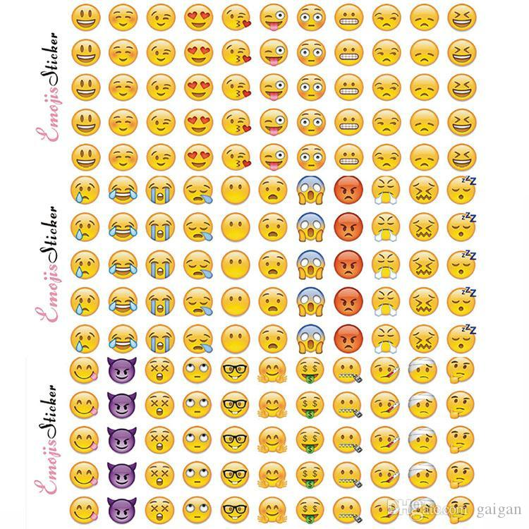 Emoji Face Stickers Removable Decal Mural Home Decor Emoji Smile Sticker For Laptop Notebook Facebook Tiwtter Children Gifts p
