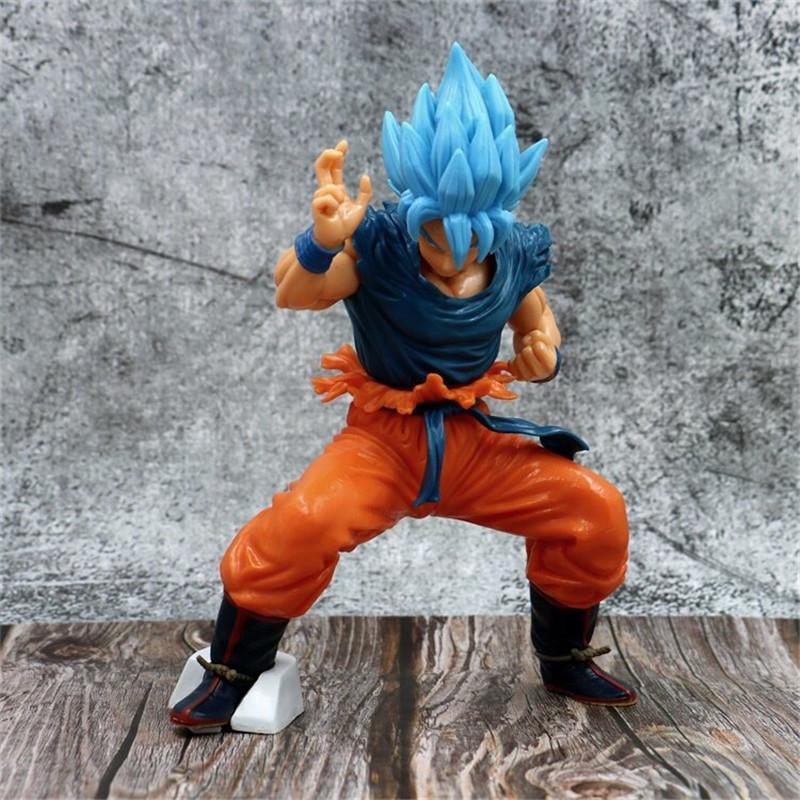 Desenhos animados novos produtos de PVC 21 centímetros Dragão Action Ball Figuras Brinquedos Azuis Cabelos Super Saiyan Anime Figuras Modelo Son Goku Collectible Toy Modelo