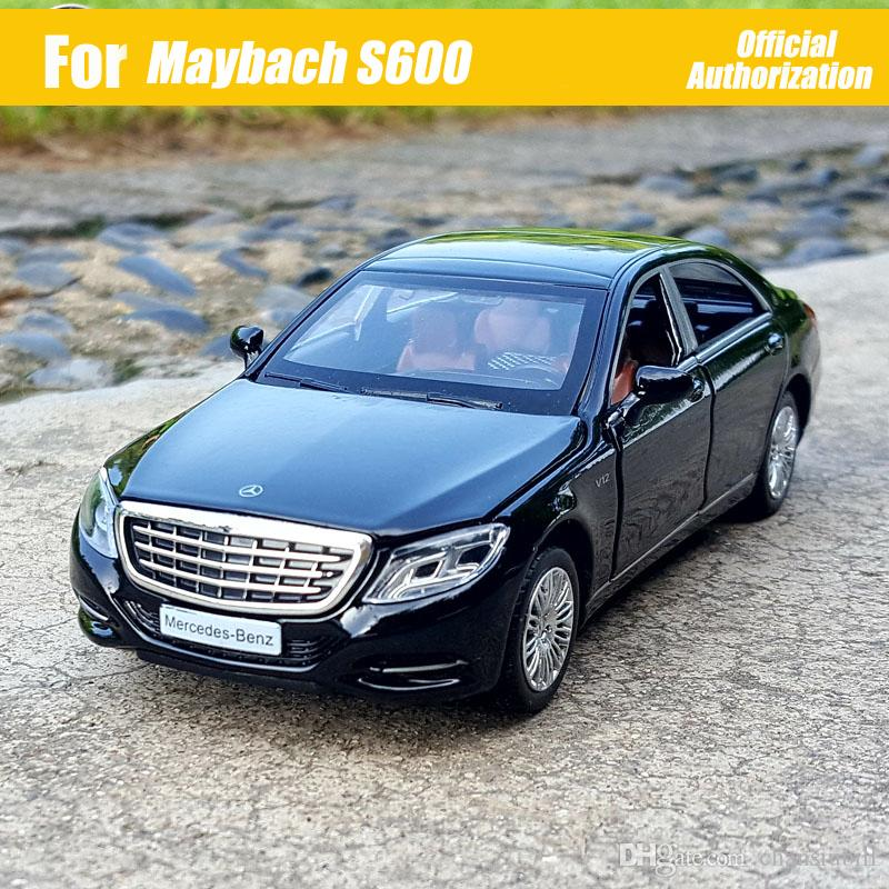 1:32 Scale Diecast Metal Alloy Luxury Sedan Car Model For TheBenz Maybach S600 S Class Collection Vehicle 6 Doors Open Toys Car
