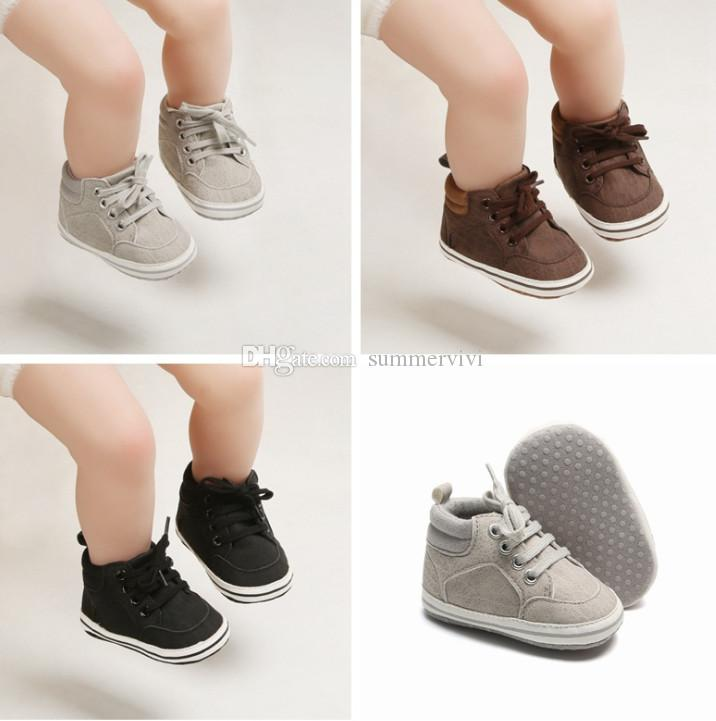 Infant kids sneakers baby boys non-slip outdoor casual shoes baby lace-up Bows soft first walkers baby toddler shoes fit 0-1T F10100