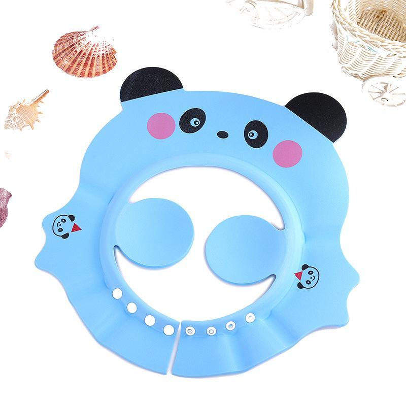 Enfants bébé Panda Cartoon Bonnet de douche réglable Shampoing étanche Cap Enfants Ear Guard Protéger les enfants Bain Visor Haircut Hat