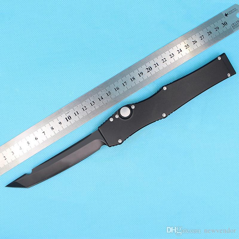 ofertas especiales Auto Ha Lo V T / punta de la hoja del cuchillo táctico E satén liso cuchillo de un solo filo Tanto / gota Con Kydex