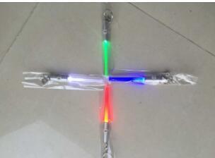 سلسلة LED مصباح يدوي عصا سلسلة المفاتيح البسيطة الشعلة الألومنيوم مفتاح حلقة المفاتيح دائم الوهج القلم العصا السحرية عصا يغتسبر LED ضوء عصا