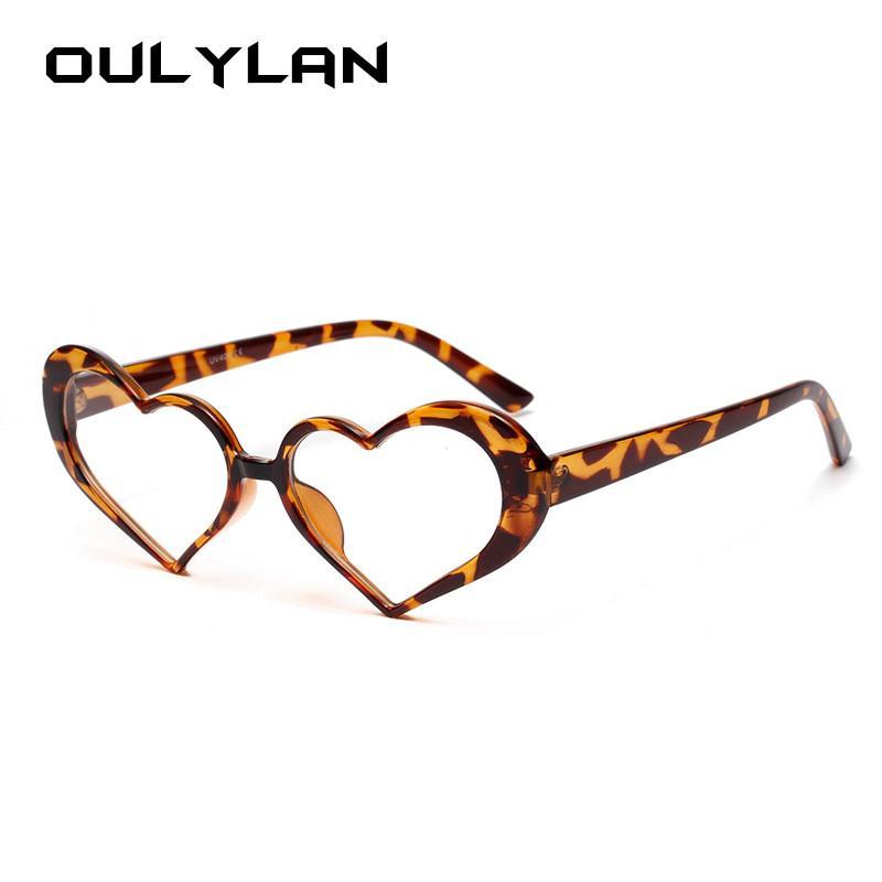 Сердце Солнцезащитные очки Женщины прозрачные линзы Дизайн ВС очки Оттенки Девушки Love Heart Shaped Sunglass очки