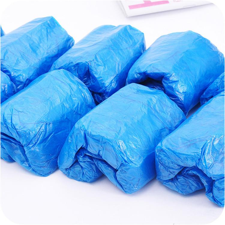 Plastic Waterproof Disposable Shoe Covers Rain Day Carpet Floor Protector Blue Cleaning Shoe Cover Overshoes For Home T2I51068