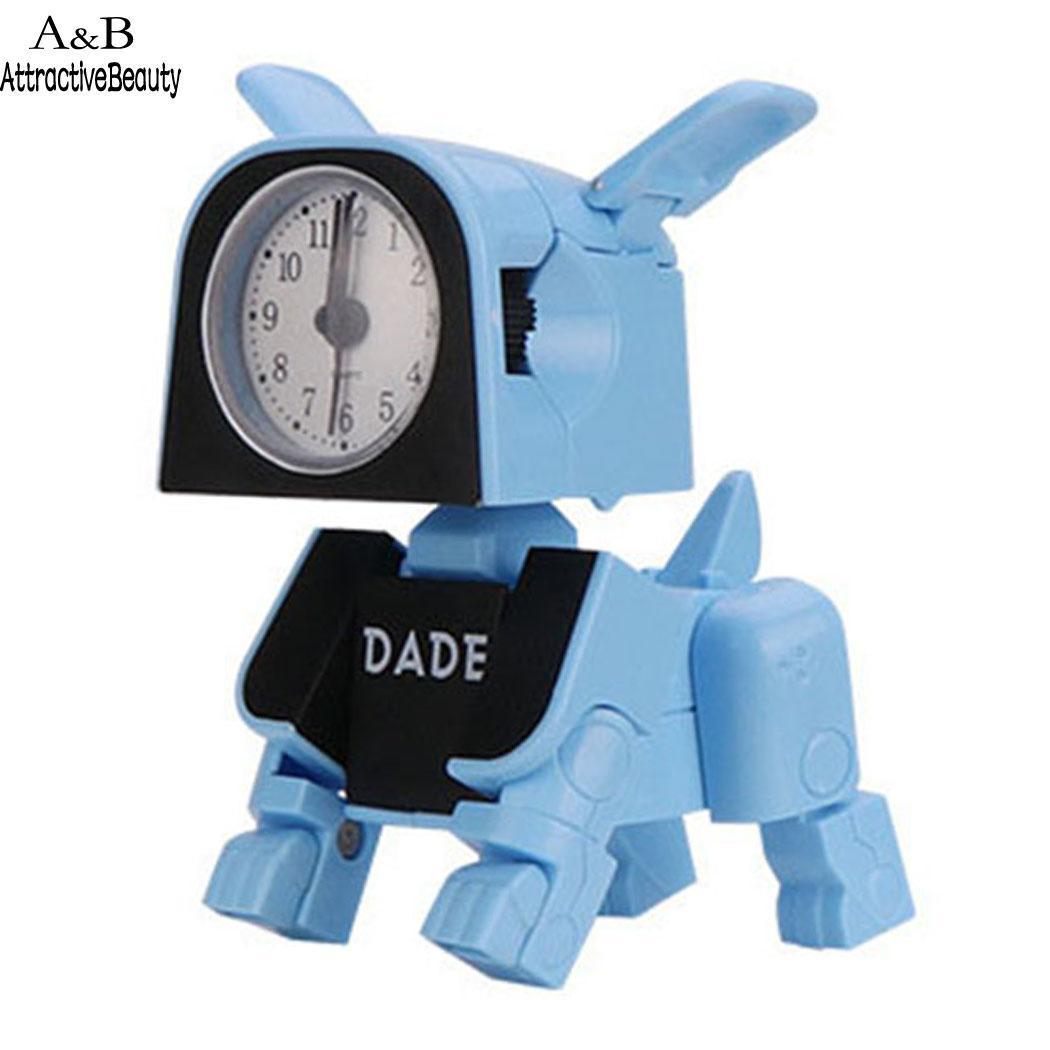 휴대용 귀여운 전자 알람 시계 어린이 홈 장난감 포인터, 숫자 3 년 된 단추로 변형 된