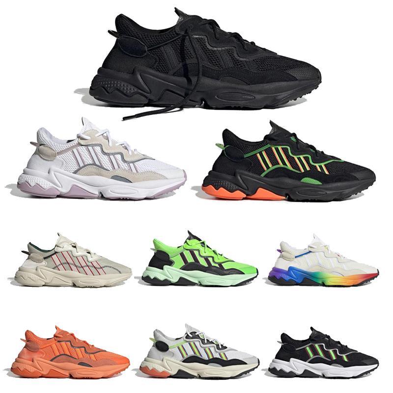 새로운 2020 년 실행 신발 프라이드를 들어 남성 여성 클라우드 화이트 태양 노란색 녹색 트리플 코어 블랙 할로윈 톤 트레이너 스포츠 스니커즈